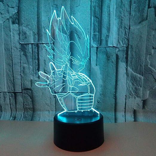 wangZJ Lámpara de iluminación para niños 3d / 7 luz táctil ...