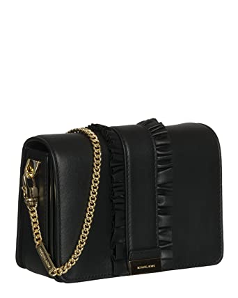 Pochette Michael Kors Jade in pelle nera con arricciatura  Amazon.co.uk   Clothing 877a483eac4