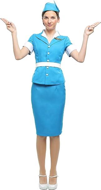 Womens Hostess//Pilot Hat Aviator Navy Blue Gold Trim Stewardess Costume Adult