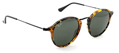 Amazon.com: Ray-Ban Redondo RB 2447 1157 49 mm Spotted Black ...
