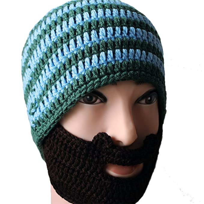 Amurleopard Beard Hat Beanie Hat Knit Hat Windproof Funny at Amazon Mens Clothing store: