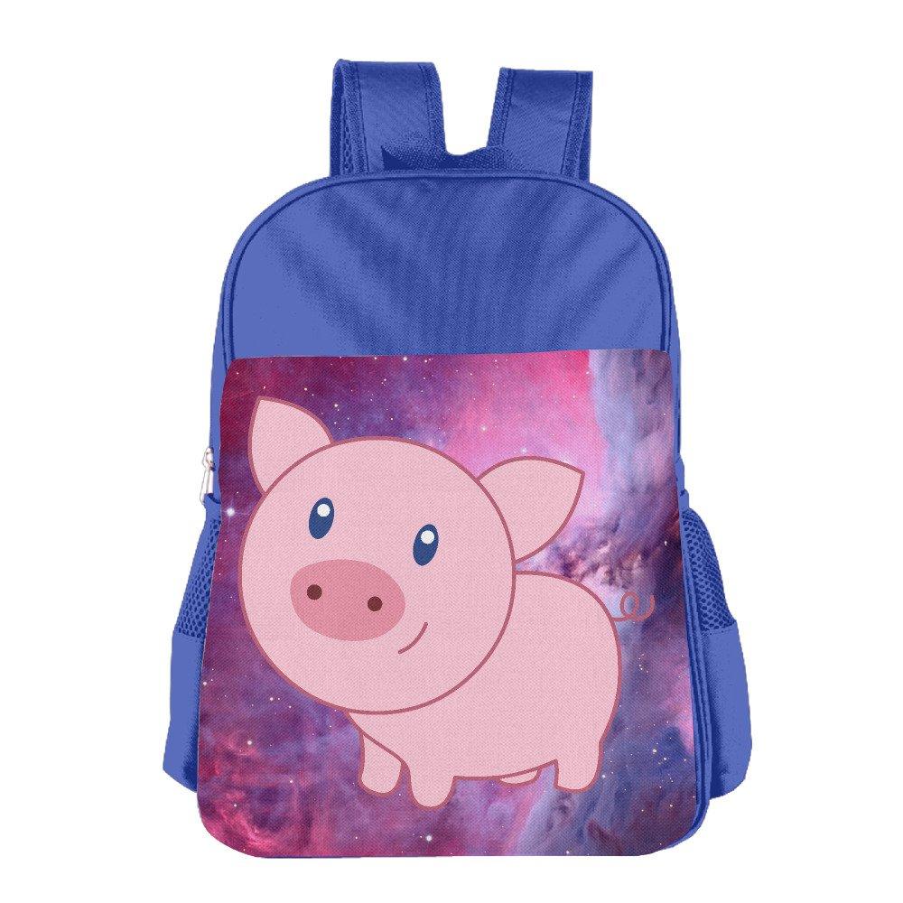 Cute Cartoon Pig Print School Backpacks For Girls Boys Kids Elementary School Bags Bookbag well-wreapped