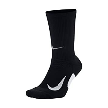 Nike Elite Running Cushion Cre Calcetines, Hombre, Schwarz-weiß, Large