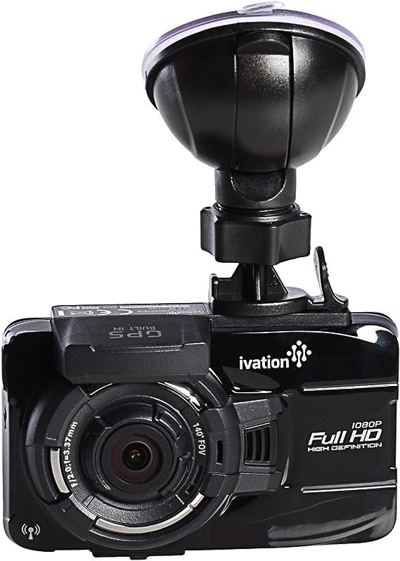 155° wide angle lens Motion De Ivation 1296p HD Dash Cam Video /& GPS Recorder