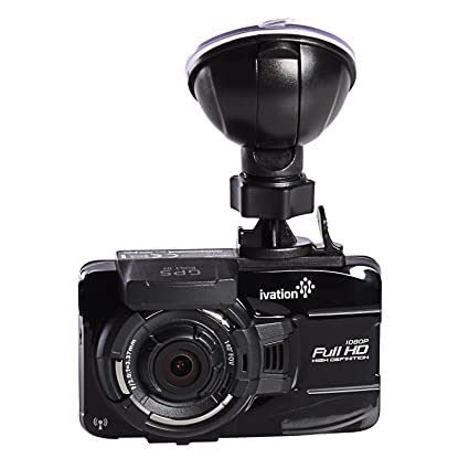 Ivation Dash Cam, 32GB HD 1080p GPS Tracking, Video & Audio Recorder, WiFi  Download, Motion Detection, Low Light Dashcam, Best Dashboard Camera for