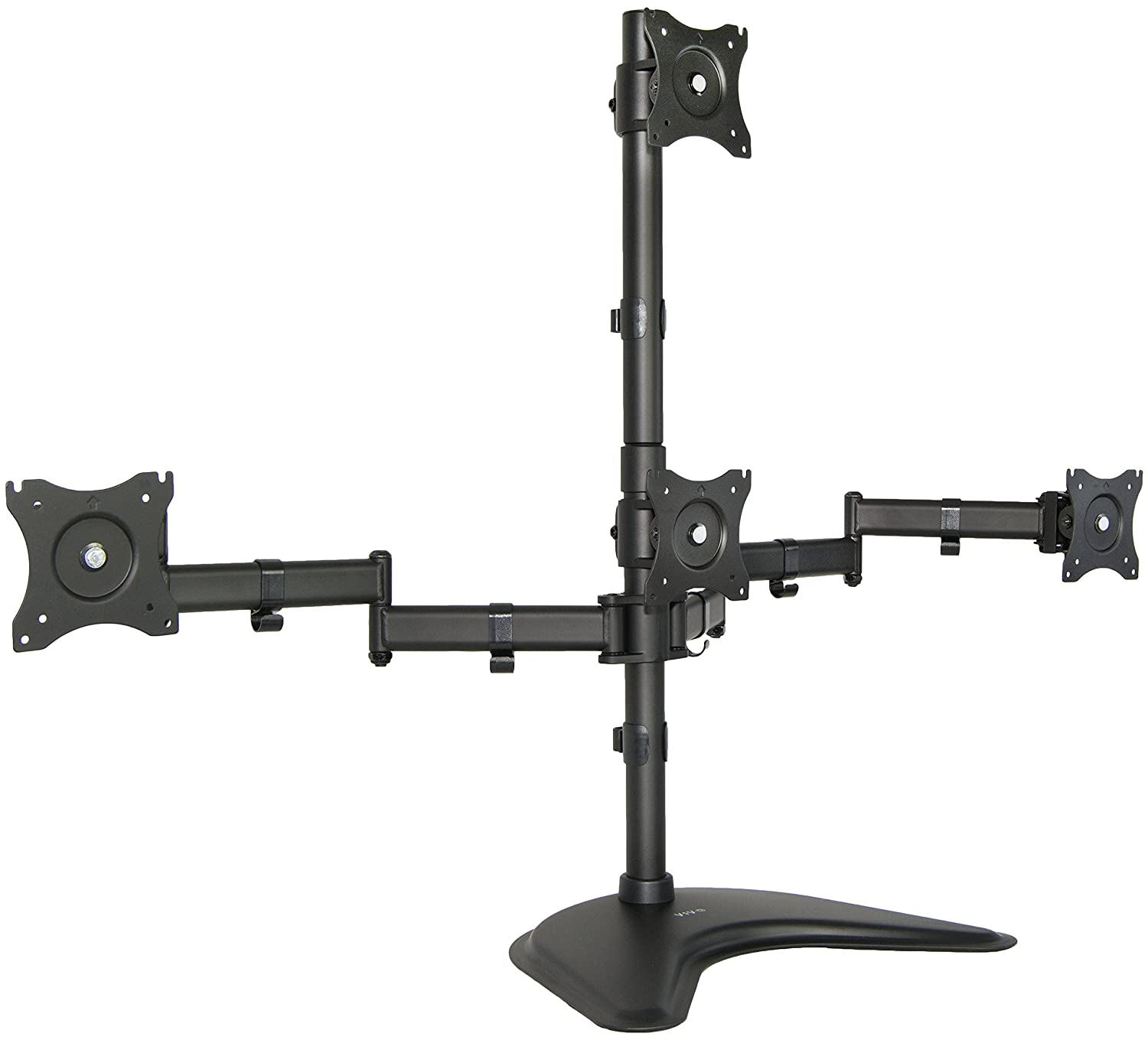 Amazon com vivo triple lcd monitor desk mount stand heavy duty fully - Amazon Com Quad Lcd Monitor Desk Stand Mount Free Standing 3 1 4 Holds Four Screens Up To 24 Stand V004z Computers Accessories