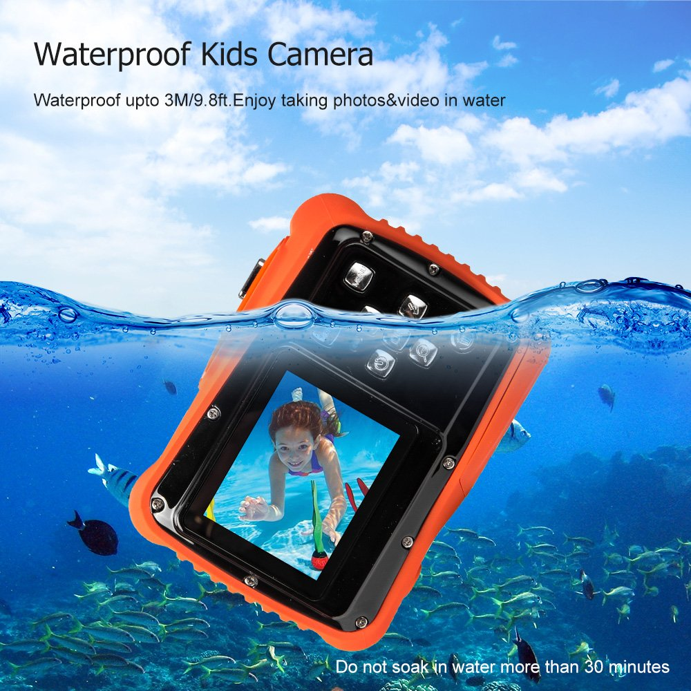 Digital Camera for Kids, Waterproof Sport Action Camera Camcorder Cam with 2.0'' LCD Screen,TOP-MAX Super HD Underwater Digital Video Camera Record Cam for Sports Swimming Diving and Beaching by TOP-MAX (Image #2)