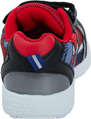 Spiderman Boys Low Top Sports Trainers Shoes UK Sizes Black /& Red Child 7-1
