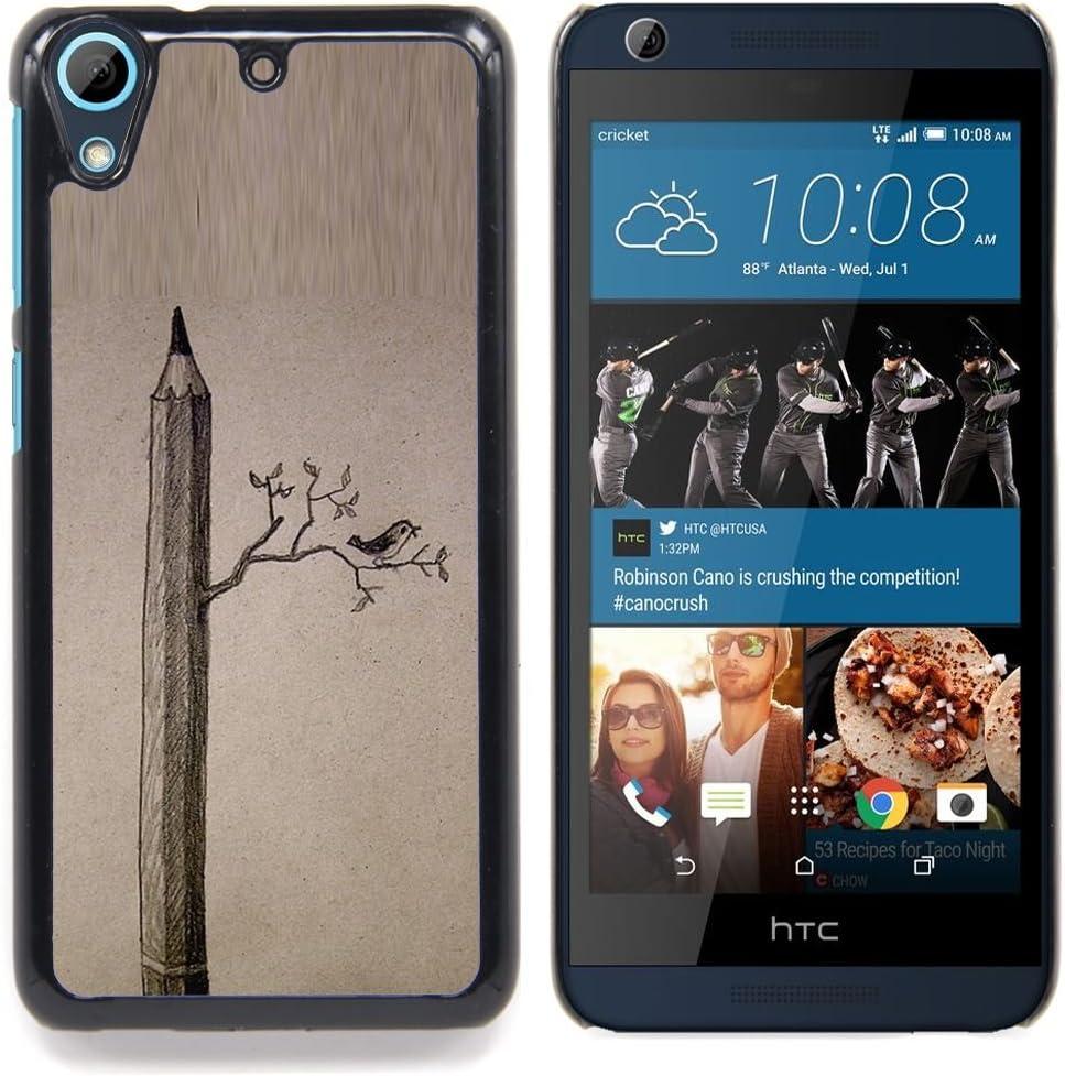 For HTC Desire 626 Case , Dibujo Aves Significado Arte Profundo - Diseño Patrón Teléfono Caso Cubierta Case Bumper Duro Protección Case Cover Funda: Amazon.es: Electrónica