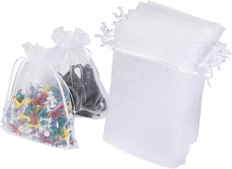 100PCS Organza Candy Gift Bag Sheer Bags Part Bag Jewellery Wedding Party Xmas