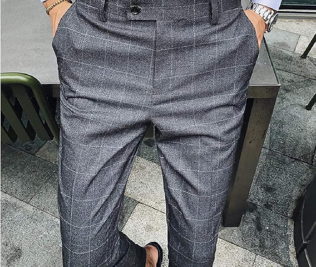 Coolred-Men Cozy Plaid Wedding Business Premium Select Fit Dress Pant