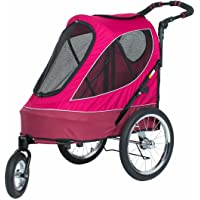 PETIQUE JG01100103 All Terrain Jogger-Blazin' Berry Pet Stroller, Blazin' Berry, One Size