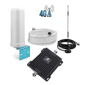 PROUTONE Teléfonos Celulares Repetidor de Señal 4G LTE 800MHz Band 20 Funciona con Orange/Movistar