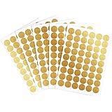 Adesivo da Parete Muro Oro Polka Puntino Decalcomanie e Autodesivi Rimovibile Decorazione per Camera dei Bambini, 1.57 Pollici, 270 Puntini