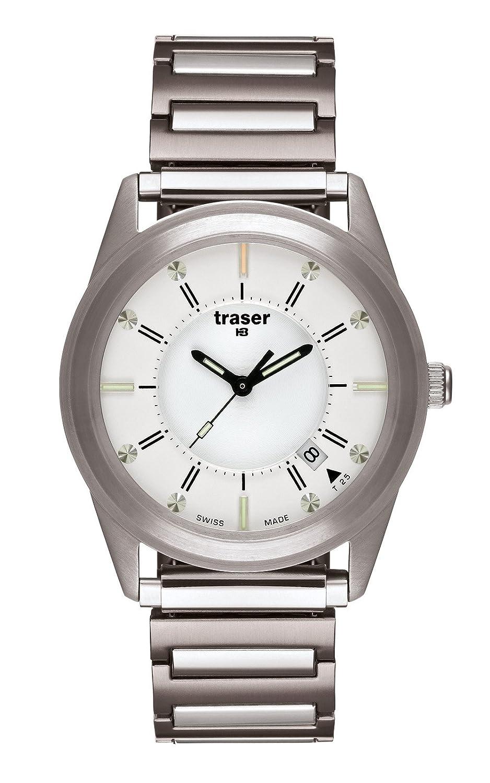 Traser Translucent Silver Stahl-Flexband XL-L