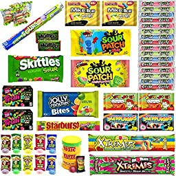 Ultimate Sour Candy Bundle - 50 Packages of Candy - Over 15 Different Varieties of Candy (Including Sour Patch Kids, Warheads, Sour Skittles, Sour Punch Straws & More)