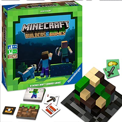 Ravensburger Minecraft: Builders & Biomes Strategy Board Game Ages 10 & Up - Exclusive: Toys & Games