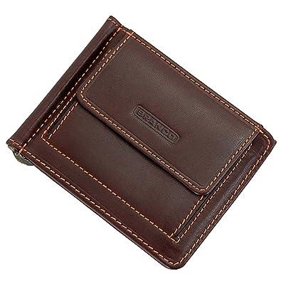 5eca78ee84c6f GoBago Branco Geldclip Dollarclip Herren Geldbörse Leder Herrenbörse Portemonnaie  Geldbeutel (Braun)