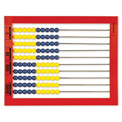 Learning Resources 2-Color Desktop Abacus, Red Frame, Color Coded, Math Concepts, Ages 5+: Office Products