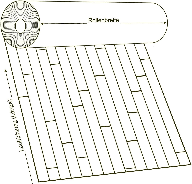 11,90 /€ p. m/² Breite: 200 cm x L/änge: 100 cm PVC Bodenbelag Holz Rustikal Natur