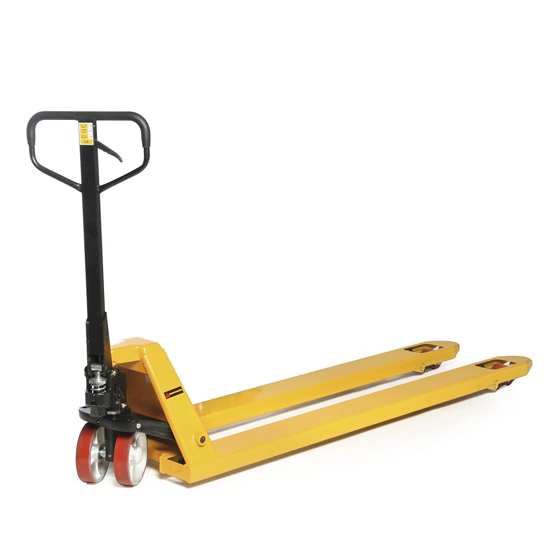 protaurus Tenedor Transpaleta taurol ifter, carga máxima 2000 kg, tenedor Longitud 1800 mm, volantes de poliuretano, Amarillo, 3 años de garantía: ...
