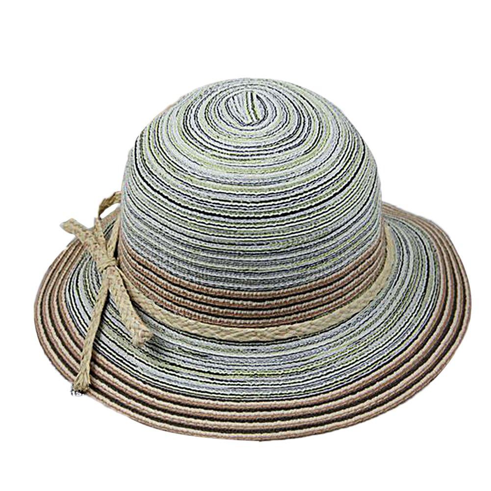 TININNA Vintage Stile etnico grande bordo largo all'aperto Cappello da sole estivo Berretto di spiaggia Cappello di estate della visiera Blu