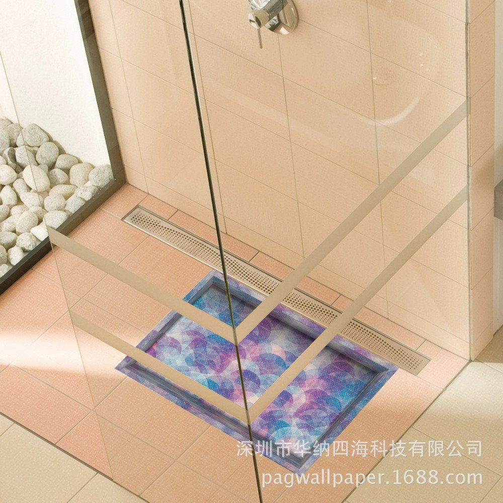 Stylish fit/3D/Bathroom Slip-proof surface/lounge/Foyer/kitchen/dining/WC/water/anti-skid/cosmetic posters (5890cm)