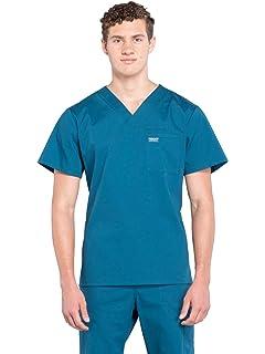 39dc519d095 Amazon.com: Cherokee Scrubs Men's Luxe V-Neck Top: Clothing