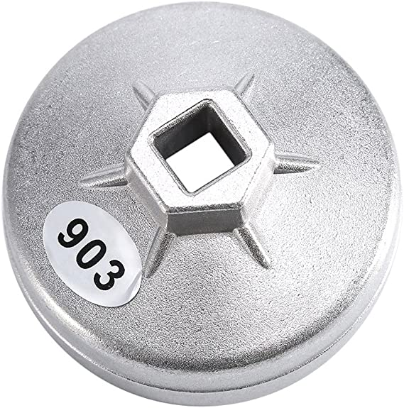 Yosoo 74mm 14 Alu Ölfilterschlüssel Werkzeug 903 Silber Baumarkt