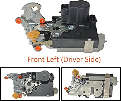Door Lock Actuator /&Integrated Latch LH Driver Side Front for Chevy GMC 15053681