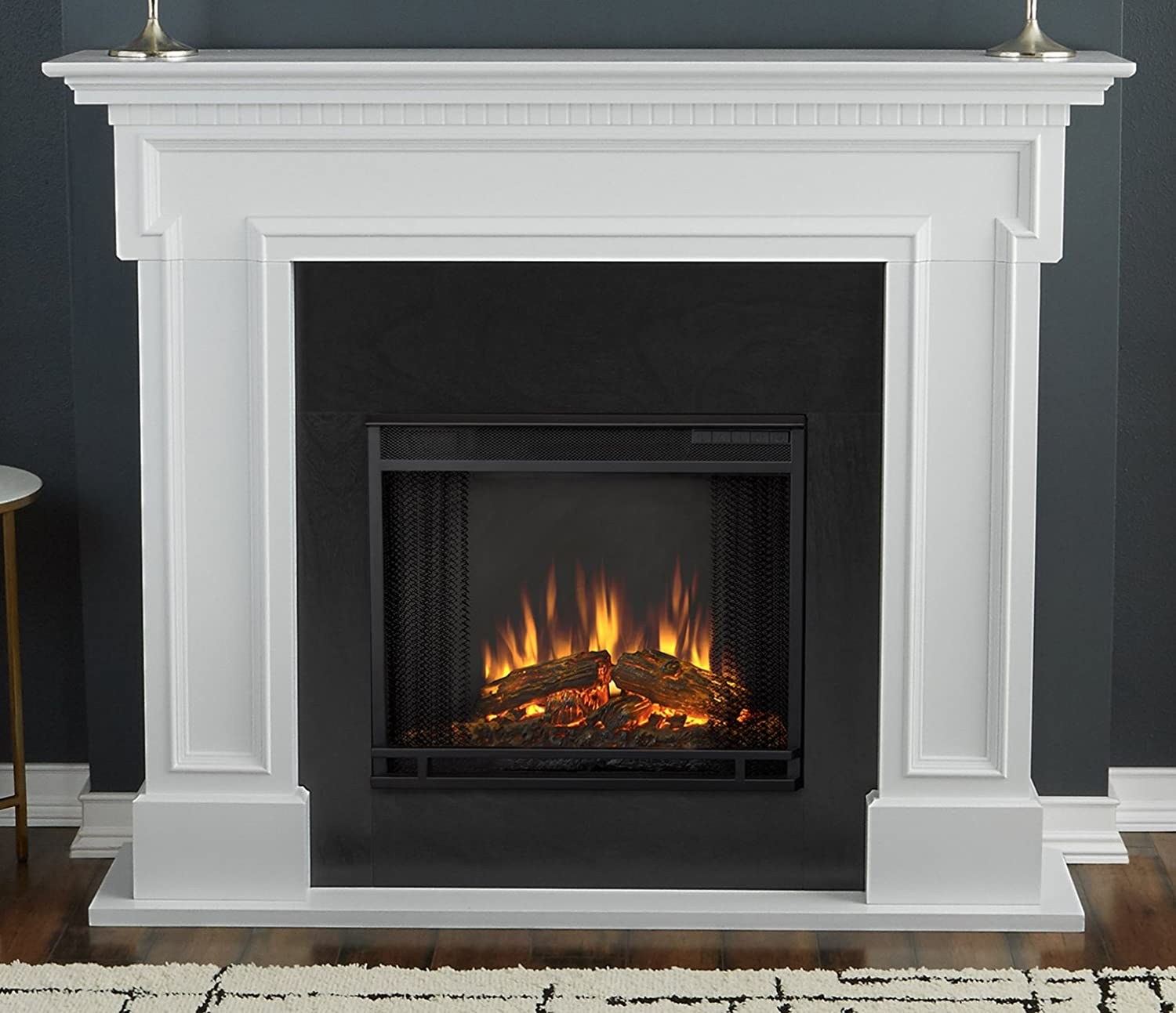 Amazoncom Real Flame 5010e W Thayer Electric Fireplace In White