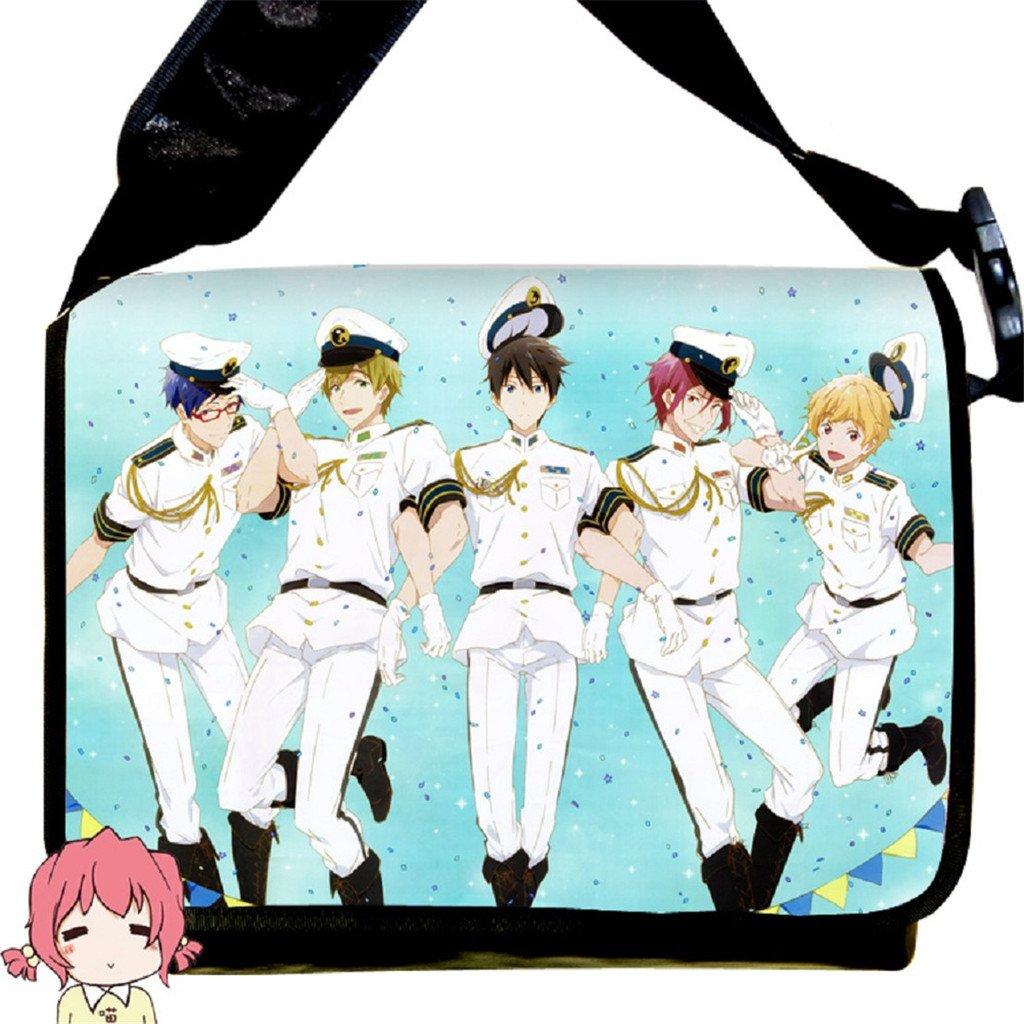 YOYOSHome Anime Free! Eternal Summer Cosplay Messenger Bag Shoulder Bag Handbag Backpack Cross-body Tote Bag