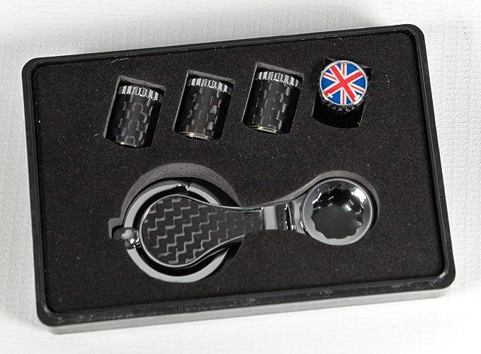 Max Auto Carbon Carbon Ventilkappen Reifenventil Mit Diebstahlschutz England Großbritannien Auto