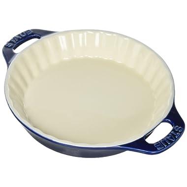 Staub 40508-615 Ceramics Bakeware-Pie-Pans Dish, 9 , 9-inch, Dark Blue