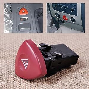 Hazard Warning Light Switch Dash Button 8200442724 93856337 For Renault Espace Laguna For Nissan Primastar For Vauxhall Vivaro