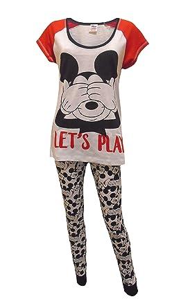 b9fa1b36b2131f Disney Mickey Mouse Let's Play Damen Schlafanzug: Amazon.de: Bekleidung