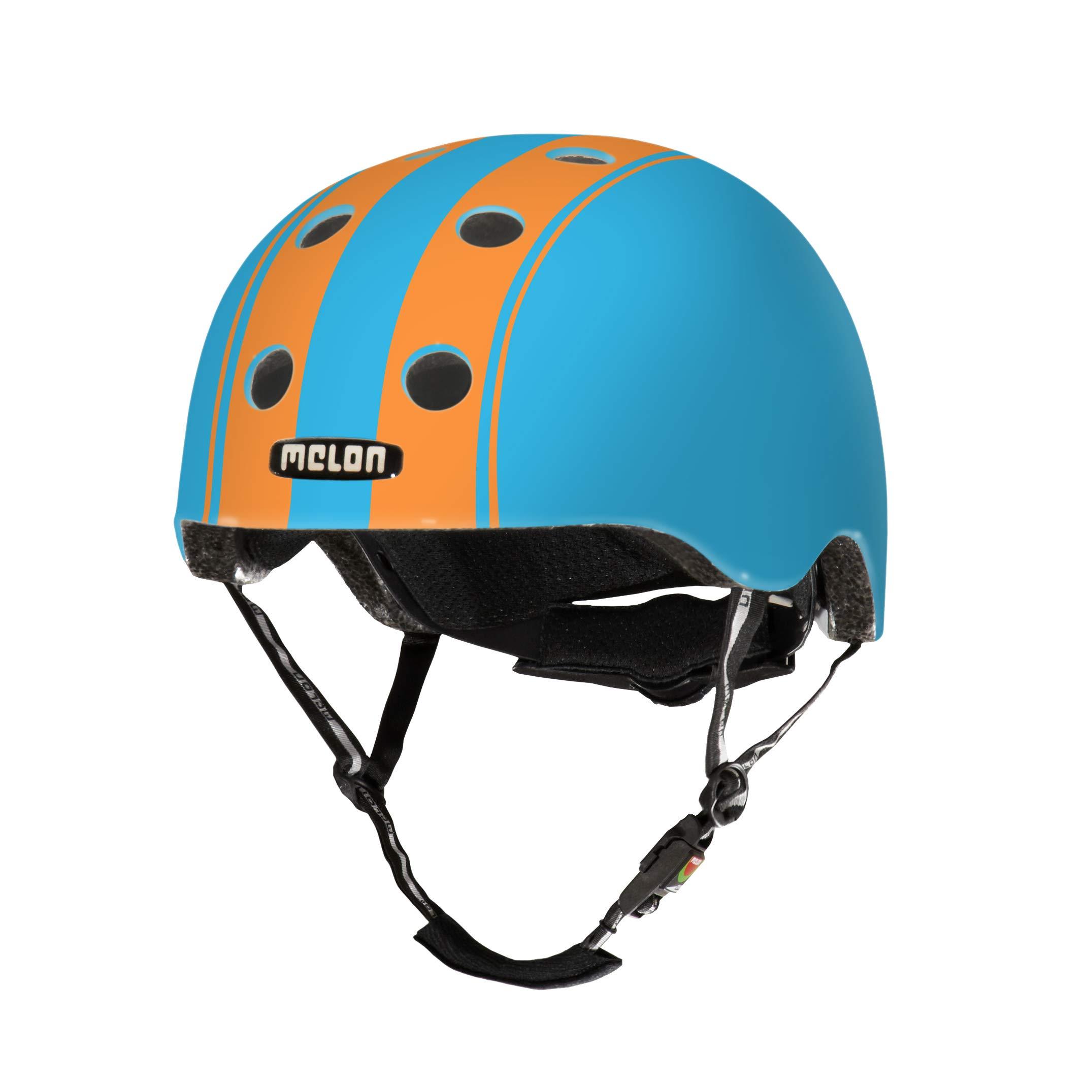 Melon Double Orange Blue Helmet, Blue/Orange, Matte Finish, Small, 46 - 52cm / 18.25 - 20.5in Head Size
