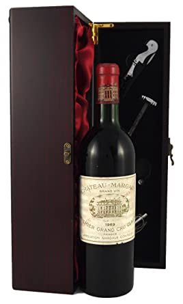 Chateau Margaux 1er Grand Cru Classe 1969 Vintage Wine Presented In A Silk Lined Wooden