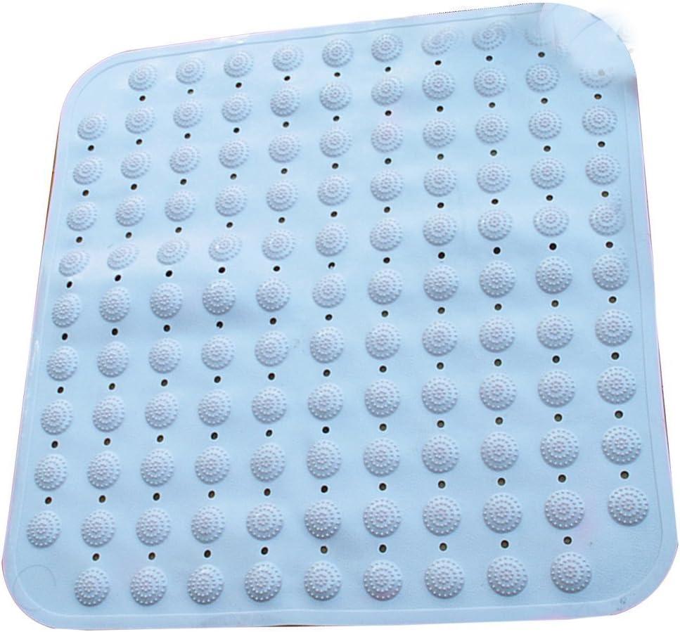 OUNONA Bath Mat Non-slip Bathtub Mats Shower Massaging Bath with Suction Cups Blue