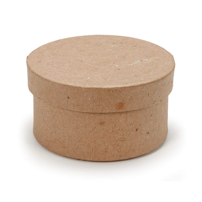 Darice DIY Crafts Paper Mache Mini Box Round 3 in 3-Pack Bulk Buy 2807-20