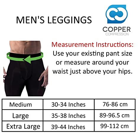 1315d1452d93f Amazon.com: Copper Compression Mens Leggings/Pants/Tights. Guaranteed  Highest Copper Content. #1 Copper Infused Active Fit  Athletic/Activewear/Athleisure ...