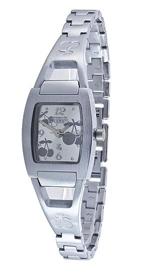 Le Temps des Cerises TC42SLM - Reloj digital para mujer de metal plateado: Amazon.es: Relojes