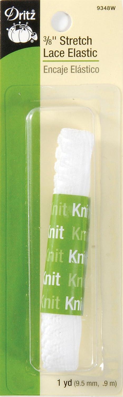 品質満点 。×1ヤード ホワイトでDritz - ホワイトでDritz B003WOXL84 103370ストレッチレース弾性3-8。×1ヤード B003WOXL84, 柴田町:0db8408f --- arianechie.dominiotemporario.com