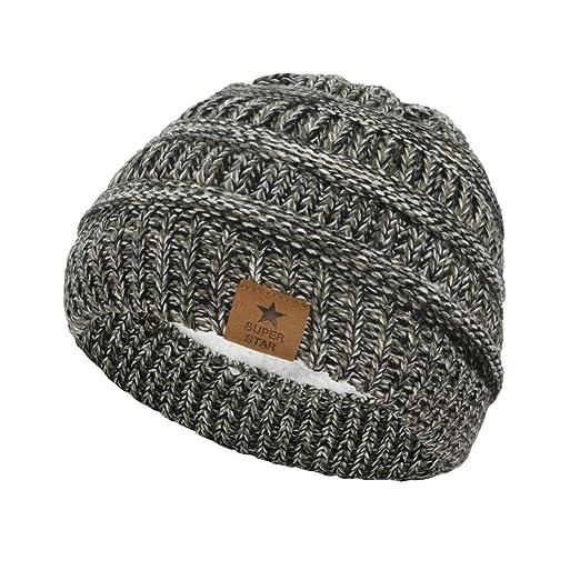 Amazon.com  Azue Baby Boy Winter Fleece Lined Beanie Hat Infant ... bff4f159f6b