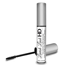 Lavish Lash HD by Hairgenics - Ultra-Premium Volumizing Fiber Mascara for Extreme High Definition Lashes.