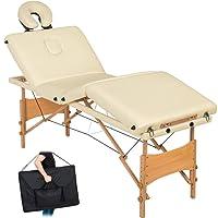 TecTake Table de massage 4 zones pliante cosmetique lit de massage portable + housse de transport - diverses couleurs au choix -