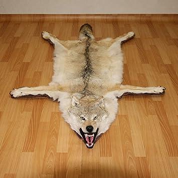 05c615780d61 Siberiano lobo gris de taxidermia - Alfombra, alfombras para la venta -  piel, piel, ocultar, piel - gris lobo: Amazon.es: Deportes y aire libre