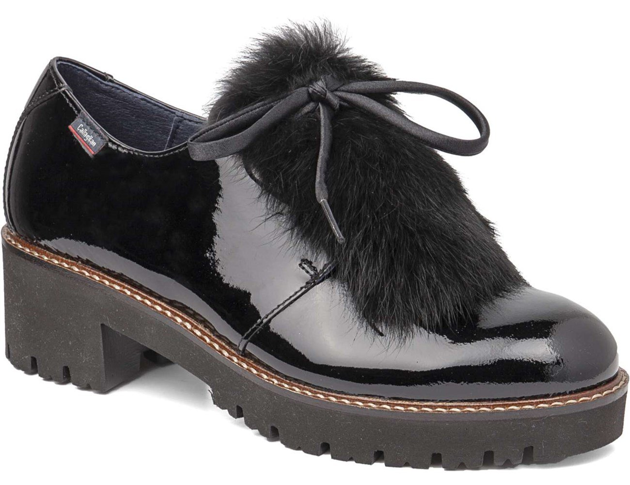 Callaghan Freestyle, Zapatos de Cordones Derby para Mujer 35 EU Black