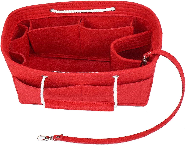Lmeison Felt Fabric Purse Handbag Organizer Insert Bag For Speedy Neverfull Tote, 3 Sizes