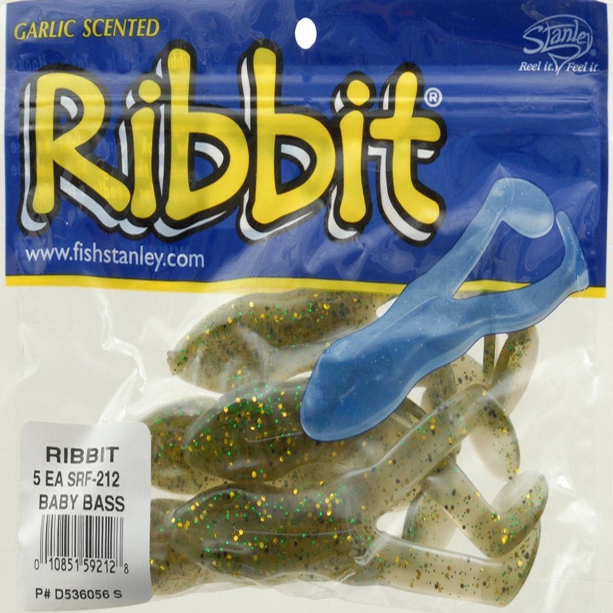 4 Frog Ribbit Soft Plastic Bass Fishing Lures